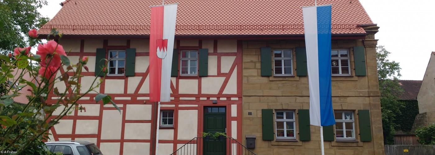 Pfarrhaus Eschenau von der Nordseite