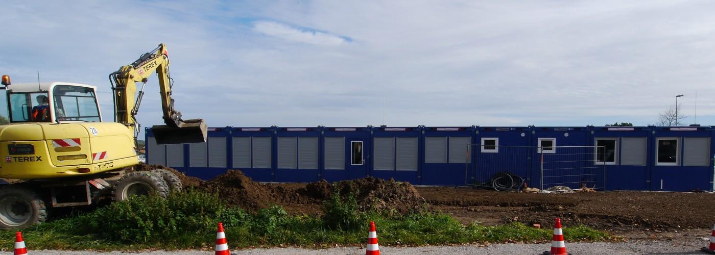Baustelle Außengelände neue KiTa Eschenau